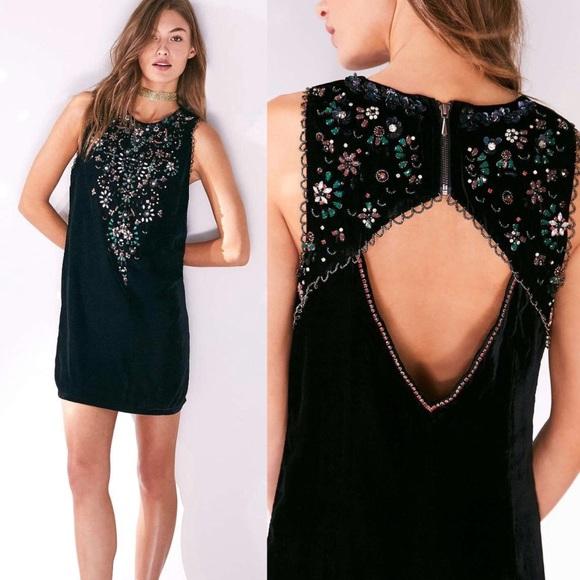 8c17f46ef1b1 Urban Outfitters Dresses | Ecot Jasmina Rhinestone Black Velvet ...